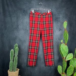 Trina Turk Aubree Royal Stewart Tartan Pants  A401